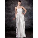 Empire Sweetheart Floor-Length Charmeuse Maternity Bridesmaid Dress With Ruffle (045016924)
