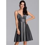 A-Line Sweetheart Knee-Length Jersey Homecoming Dress With Ruffle (022206512)