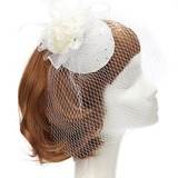 Charme Kunstzijde/Netto garen Fascinators met Strass (042057559)
