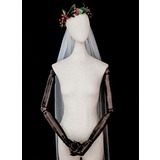 One-tier Cut Edge Elbow Bridal Veils (006183263)
