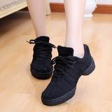 Mulheres Couro Tênnis Treino com Aplicação de renda Sapatos de dança (053048839)