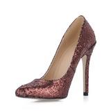 Sprankelende Glitter Stiletto Heel Pumps Closed Toe schoenen (085020586)