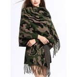 Tassel Cold weather Polyester Poncho (204189020)