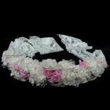 Elegante Seda artificiais/Renda Capacete da menina flor (042025244)