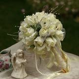 классический Круглый атласная Свадебные букеты (124032096)
