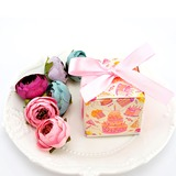 Lovely Cuboid Card Paper Favor Boxes With Ribbons (Set of 100) (050197435)