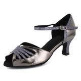 Vrouwen Patent Leather Hakken sandalen Latijn met Enkelriempje Dansschoenen (053021565)