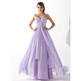 Vestidos princesa/ Formato A Coração Longos De chiffon Vestido de baile com Pregueado Bordado (018004835)