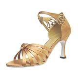 Женщины Атлас На каблуках Сандалии Латино Бальные танцы Обувь для танцев (053013247)