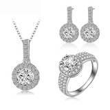 Copper/Zircon With Cubic Zirconia Ladies' Jewelry Sets (011177841)