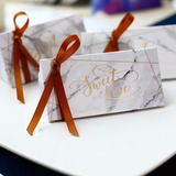 Sweet Love/Classic Cubic Card Paper Favor Boxes With Ribbons (Set of 20) (050197403)