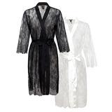 Bride Bridesmaid Blank Robes Lace Robes (248164212)