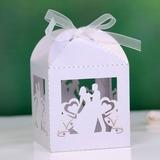Noiva & Noivo Cubóide Caixas do Favor com Fitas (conjunto de 12) (050027008)