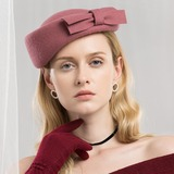 Ladies' Simple/Romantic Wool With Bowknot Beret Hat (196178757)