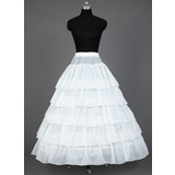 Women Satin Floor-length 5 Tiers Petticoats (037031008)