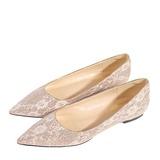 Femmes Cuir en microfibre Talon plat Bout fermé Chaussures plates avec Couture dentelle (047190330)