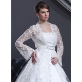 Long Sleeve Lace Wedding Wrap (013022588)