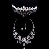 Flor em forma Liga/Pérola com Strass Senhoras Conjuntos de jóias (011040409)