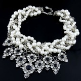 Unique Alloy With Pearl/Rhinestone Ladies' Necklaces (011053815)