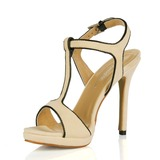 Camurça Salto agulha Sandálias Sapatos abertos com Fivela sapatos (087017929)