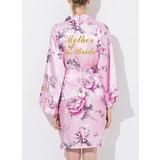 Silk Mom Floral Robes Glitter Print Robes (248176079)