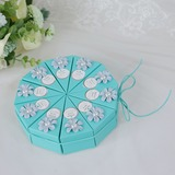 Lovely Cubic Card Paper Favor Boxes With Flowers (Set of 10) (050200864)
