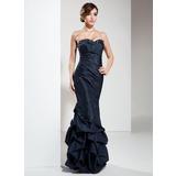 Empire Sweetheart Floor-Length Taffeta Prom Dress With Ruffle Beading Sequins (018004833)