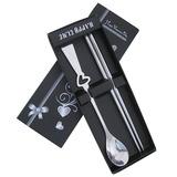 Projeto do coração Aço inoxidável Colher e Chopsticks Set (051020311)