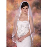 One-tier Waltz Bridal Veils With Ribbon Edge (006003952)