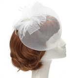 Betoverend Feather Fascinators met Venetiaanse Parel (042057224)