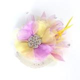 Schitterend Netto garen en zijde bloemen/Veer Bloemen (042016710)