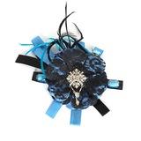 elegante Pena Tulle Cotton Flores (042016713)