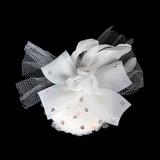 Especial Tecido de seda Tule Flores Jóias para Cabelo (042016707)