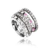 Элегантные сплав/Платина покрыли с горный хрусталь женские кольца (011055325)