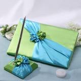 Синий и зеленый Гостевая книга & перо набор (101037365)
