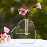 Persoonlijke Hart Gevormd Glas Taart Cilinderhoed (119033773)