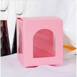 Lovely Cubic Favor Boxes With Window (Set of 12) (050025896)
