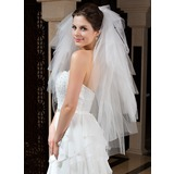 Six-tier Fingertip Bridal Veils With Cut Edge (006035801)