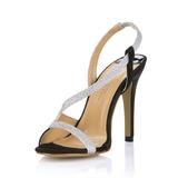 кожа Высокий тонкий каблук Сандалии Босоножки обувь (087017924)