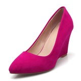 Women's Suede Wedge Heel Wedges With Others shoes (085191986)