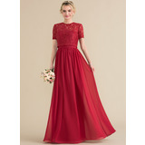 A-Line/Princess Sweetheart Floor-Length Chiffon Evening Dress (017164916)