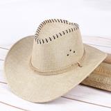 Men's Classic Linen Cowboy Hat (196200466)