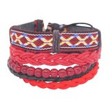 Stylish Basketwork Cotton String Unisex Fashion Bracelets (Sold in a single piece) (137193021)