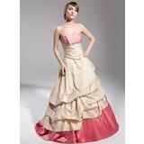 Платье для Балла В виде сердца Sweep/Щетка поезд Тафта Пышное платье с Рябь кружева (021014698)