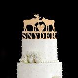 Personalizado Reno Madera Decoración de tortas (119187784)