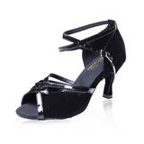 Mulheres Nubuck Saltos Latino com Fivela Sapatos de dança (053041202)