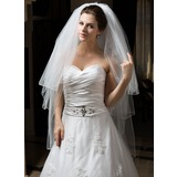 Three-tier Fingertip Bridal Veils With Pencil Edge (006034318)