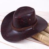 Men's Classic leather/Pu Cowboy Hat (196200459)