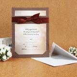 Klassieke Stijl Standaard Kerstkaarten Invitation Cards met Linten (Set van 50) (114030777)