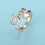 Personalized Unisex Chic Rose Gold Plated With Round Name Rings Rings For Bride/For Bridesmaid/For Friends (011206362)